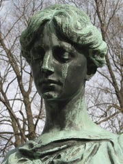 """Crying Mary"" at the gravesite of Johannes Decker in"