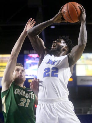MTSU's JaCorey Williams (22) was named Conference USA's Player of the Year on Wednesday.