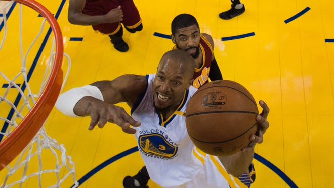 Golden State Warriors forward David West (3) during the first half against the Cleveland Cavaliers at Oracle Arena on Jan. 16.