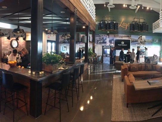 Guests check out Rancharrah's new Information Pavilion