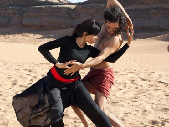 Frieda Pinto and Reece Ritchie in a scene from 'Desert