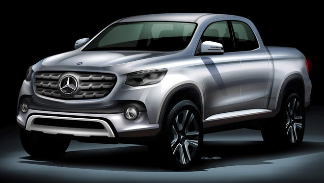 Sketch of the new Mercedes-Benz midsize pickup.