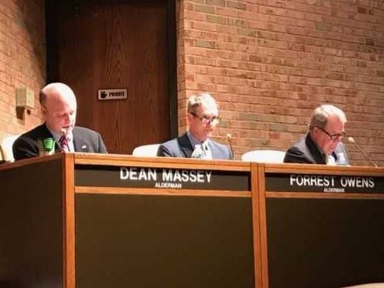 Germantown aldermen, from left, Dean Massey, Forrest Owens and Rocky Janda