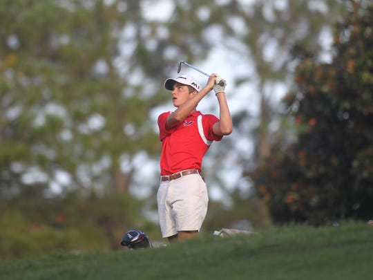 Leon's Ben Williams plays during Monday's City Championship