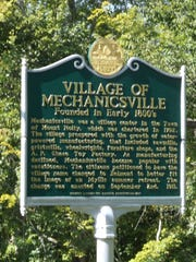 Historical Marker for Mechanicsville in Mount Holly. Belmont is a village in the town of Mount Holly and was originally called Mechanicsville, but renamed to promote its virtues as a summer tourist haven.