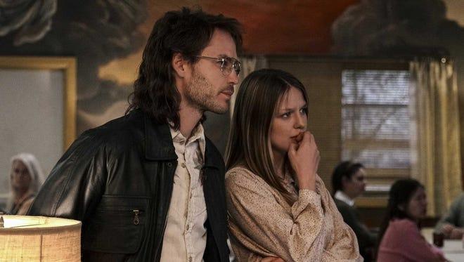 Taylor Kitsch plays David Koresh and Melissa Benoist plays his wife, Rachel, in Paramount Network's 'Waco.'
