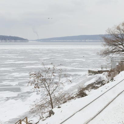 Cayuga Lake is shown in February 2015.