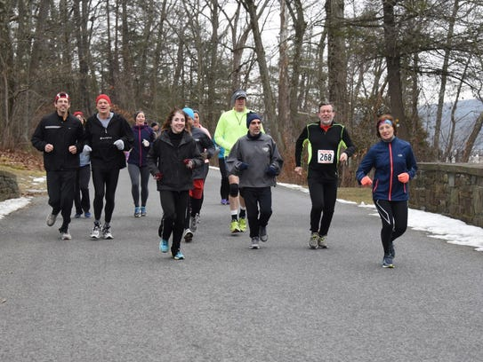Runners take part in the annual Recover from the Holidays event in 2016.
