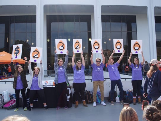 Students at Clemson University revealed the 2018 fundraising