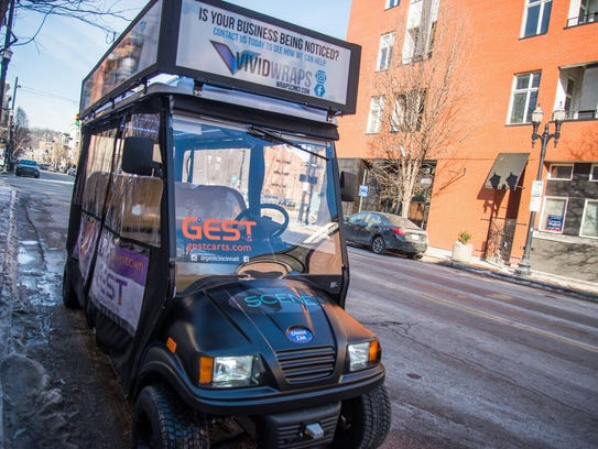 GEST, a free golf cart shuttle service, launched in