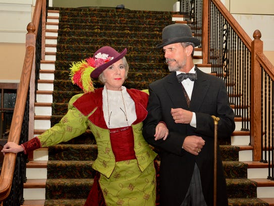 """Susan Mansur Bahr and Keith Pond in """"Hello, Dolly!"""" opened April 13 at the Wichita Theatre. The musical continues Fridays and Saturdays through April 28. There are 2 p.m. matinees on April 14, 21 and 28."""