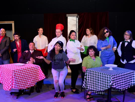 "The cast of ""Death by Dessert,"" which opens at 7:30"