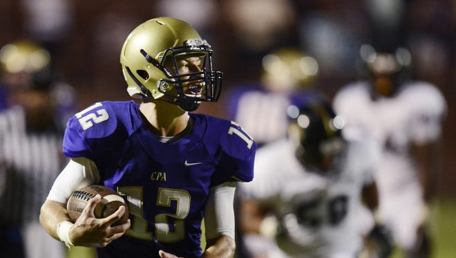 CPA quarterback Jay Hockaday helped lead his team to the Class 3A state title in 2014.