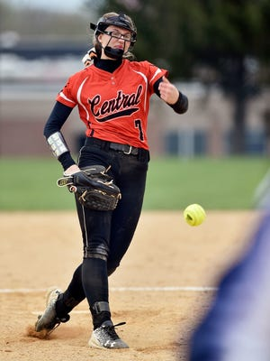 Coppersmith delivers a pitch in a game against Dallastown last season.