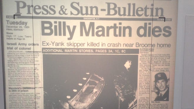 Ex-Yankee manager Billy Martin died in a tragic car crash 26 years ago today.