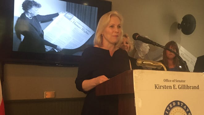 U.S. Sen. Kirsten Gillibrand announcing new legislation that would establish a the Women's Suffrage Centennial Commission in honor of the 100th anniversary of the passage and ratification of the 19th Amendment.