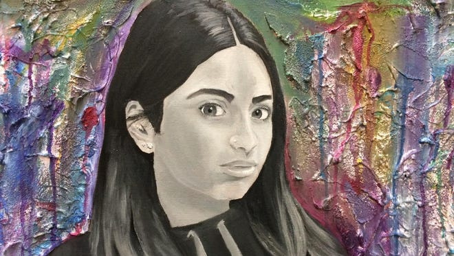 Art from Broome County high school students — like this piece by Maiya Ramirez of Johnson City — will be on display at the Broome County Arts Council for First Friday.