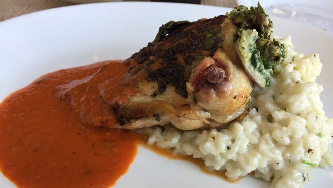 Airline chicken served Tuesday, July 18, 2017 at Midtowne Oven in downtown Lafayette.
