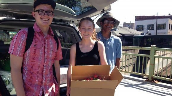 Volunteers at Pleasantville Community Garden