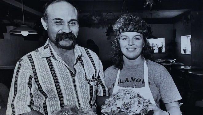 Delicious offerings at El Azteco, March 1987.