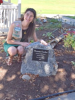 Girl Scout Rachael Davis recently completed a memory garden for the residents at The Courtyards Assisted Living at Bethany Village in Horseheads for her Gold Award Project.
