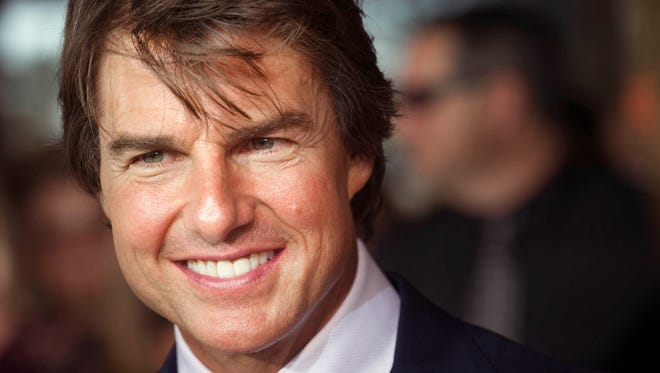 """Tom Cruise greets fans as he arrives for a special local premiere of his film """"Jack Reacher: Never Go Back"""" on Monday, Oct. 17, 2016, at the Regal Pinnacle 18 in Turkey Creek. The premiere is a Regal Entertainment Group fundraiser to benefit Variety Ñ the ChildrenÕs Charity of Eastern Tennessee."""