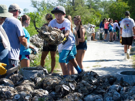 Attendees can bag oysters and make seagrass mats from