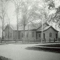The original Third Ward School is shown in this undated photograph.