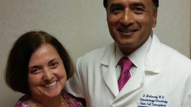 Gale Sylvester-De Mello with Dr. Dipnarine Maharaj, who offers experimental stem cell treatments.