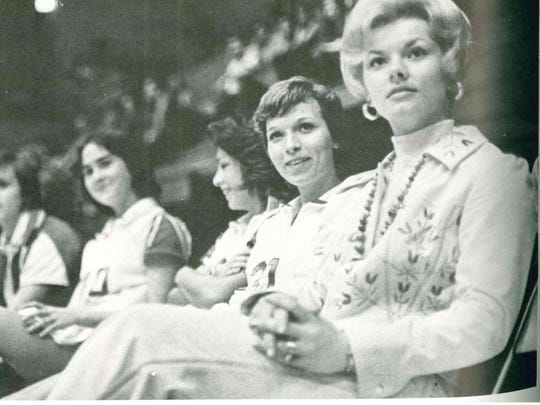 Sonja Hogg, right, was the first women's basketball coach in Louisiana Tech history. She helped start the program in 1974-75.