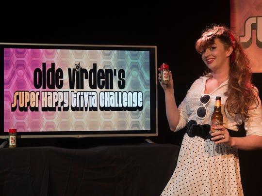 Panelist Devyn Ray at the SuperHappy Trivia Challenge.