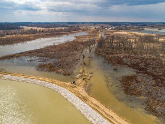 Wetland restoration projects along the Lake Erie shoreline