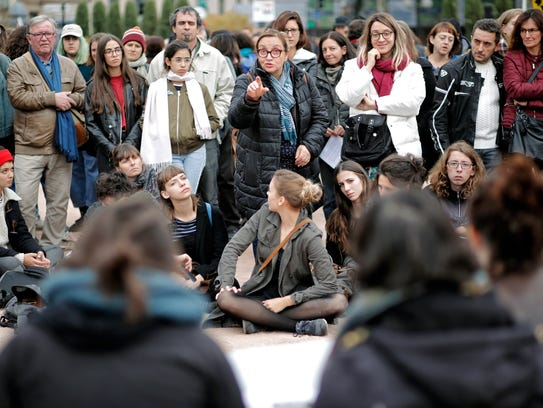 French women protested sexual abuse and harassment