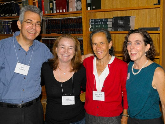 Oregon Gov. Kate Brown, right, attends her 25th reunion in 2010 at the Northwestern School of Law at Lewis & Clark College in Portland.