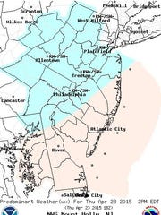 A mix of snow and rain is expected this afternoon in many parts of New Jersey