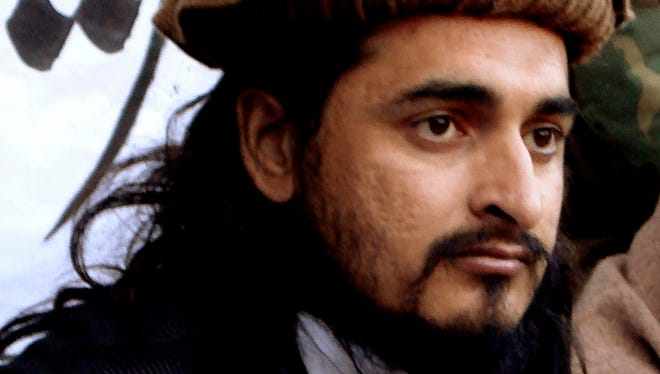 This 2008 photo taken in the Orakzai tribal region of Pakistan shows Hakimullah Mehsud, leader of the Pakistani Taliban faction.