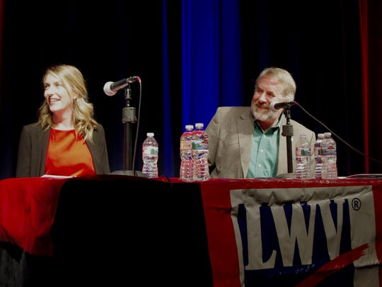 Audrey Denney and Doug LaMalfa faced off in a debate on issues surrounding the election for the 1st Congressional District.