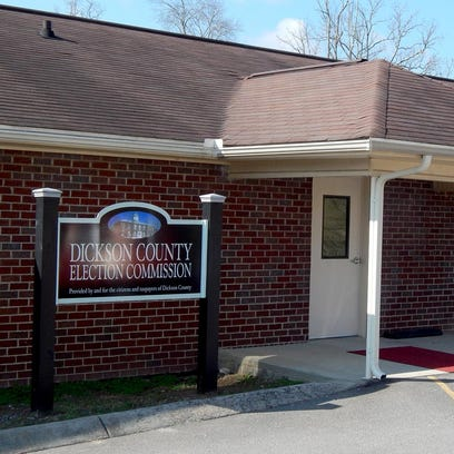 The Dickson County Election Office at 110A Academy Street in Charlotte.