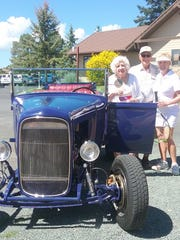 John and Karen Luzietti arrived in style in their 1938 Model A.