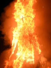 Images of the burn at Burning Man 2015