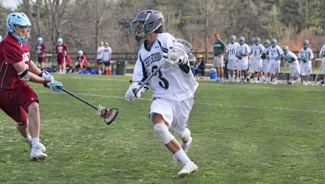 Christ School's Riley Smith (3) has committed to play college lacrosse for High Point.