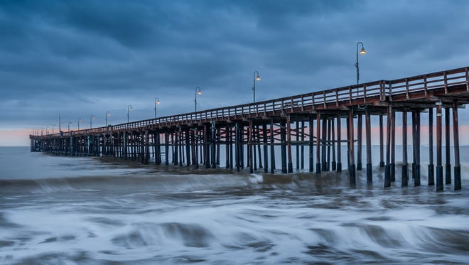 A photo of Ventura Pier created with a density filter and long exposure.