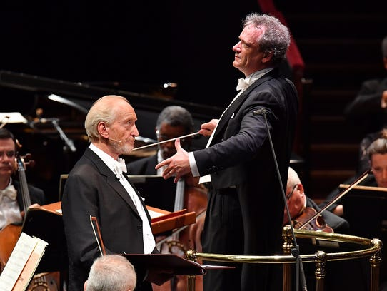 """British actor Charles Dance (""""Game of Thrones"""") performed"""
