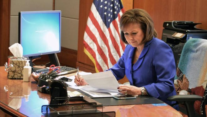 New Mexico Governor Susana Martinez vetoed 60 percent of the 172 bills sponsored solely by Democrats. She signed nearly 72 percent of the 60 bills sponsored solely by Republicans. And she approved nearly 58 percent of the 45 bills with bipartisan sponsorship.