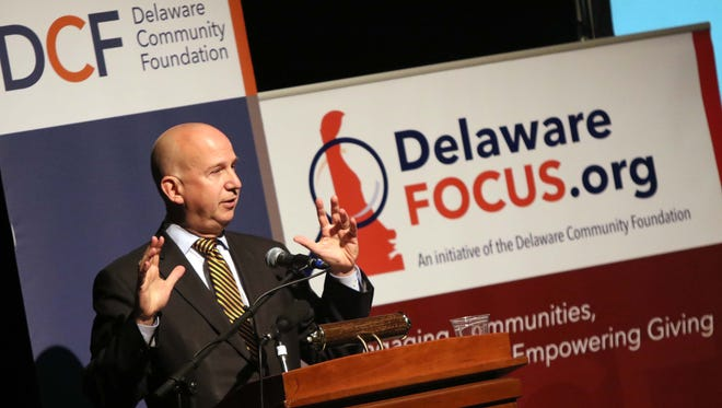 Gov. Jack Markell speaks about the importance of Delaware Community Foundation's new website highlighting quality-of-life data about Delaware and identifying where the state's greatest needs are.