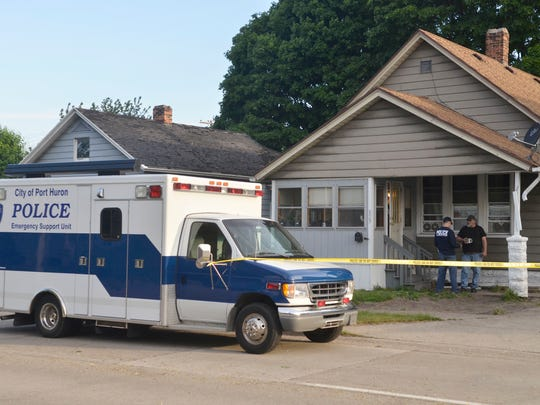 Port Huron police investigate a death Wednesday at 829 Oak Street in Port Huron.