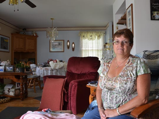 Burlington resident Sandy Dowell said she was watching television when she heard a rumble.
