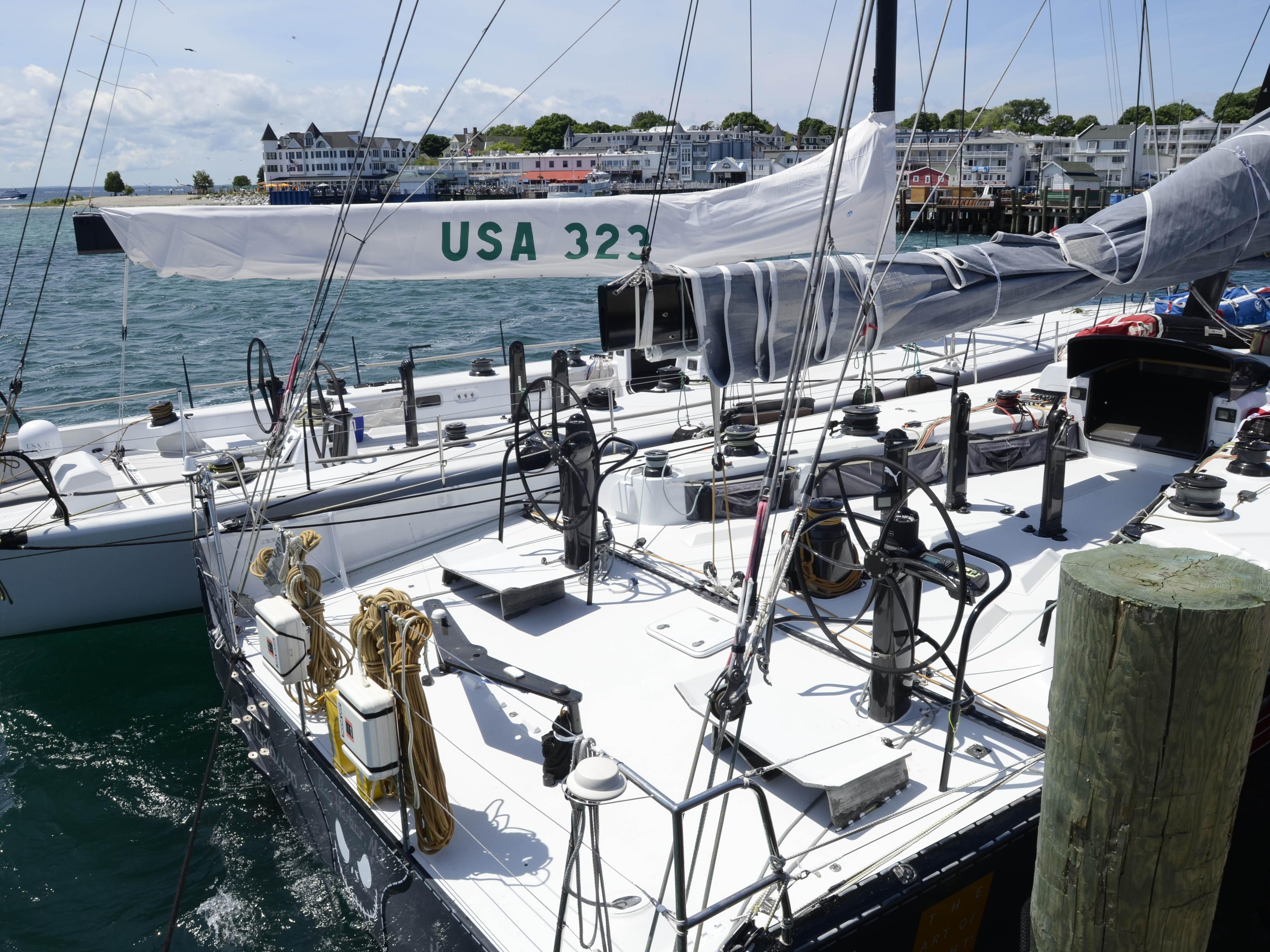 In 2013, Equation and Il Mostro were tied up to each other on the docks at Mackinac Island by early Sunday afternoon as both took the Shore Course. This year, the fastest boats in the fleet are forced to take the Cove Island Course.