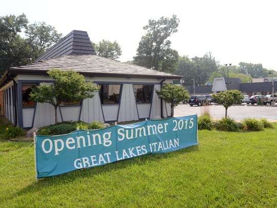 A sign announces the opening Sunday, July 12, of the future Great Lakes Italian Restaurant in Fort Gratiot Township in this 2015 file photo.