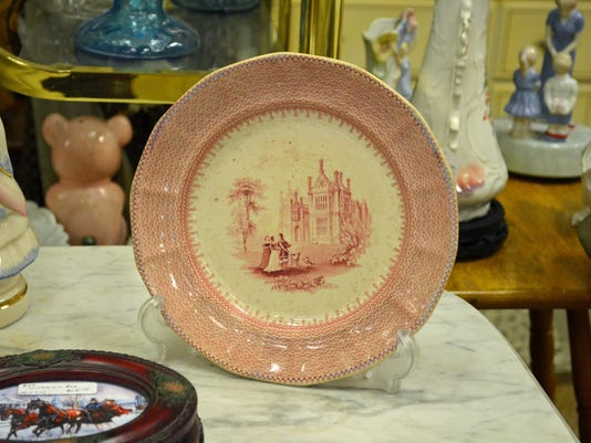 Bell red white china